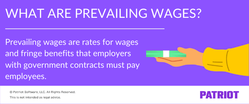 what are prevailing wages definition with illustration