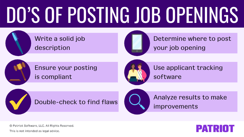 tips for posting job openings for your business