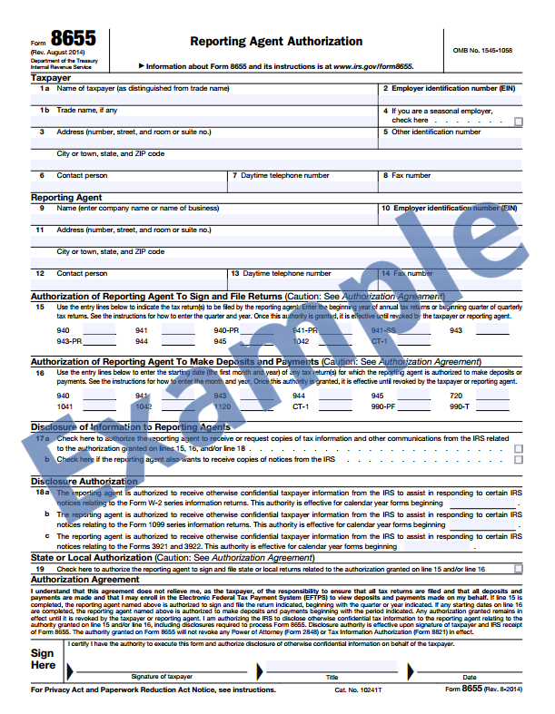 Filling Out The Tax Authorization Form For Payroll Tax Service