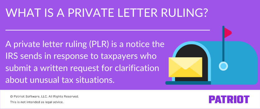 what is a private letter ruling definition with graphic of mailbox and letter
