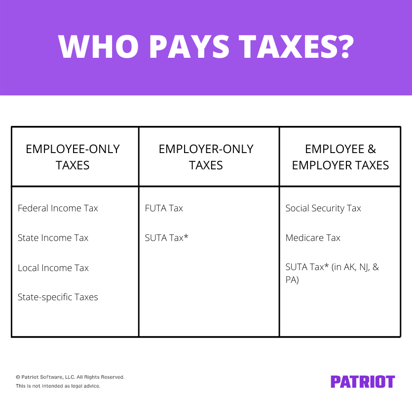 who pays taxes? chart