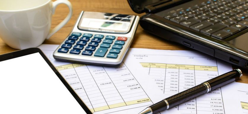 Small business valuation office supplies on desk