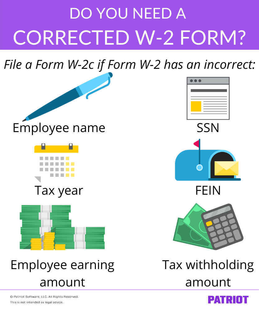 situations where employers may need a corrected w-2 form