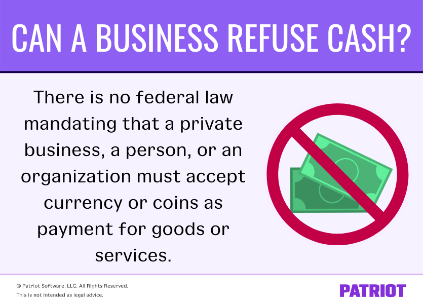 is a business legally allowed to refuse cash