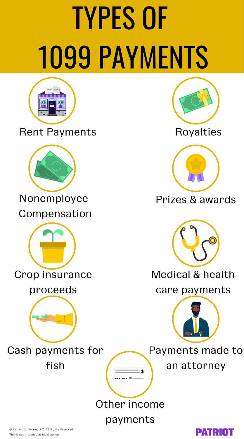 types of 1099 payments
