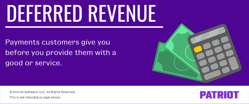 deferred revenue is when you receive payments from customers before providing them with a good or service