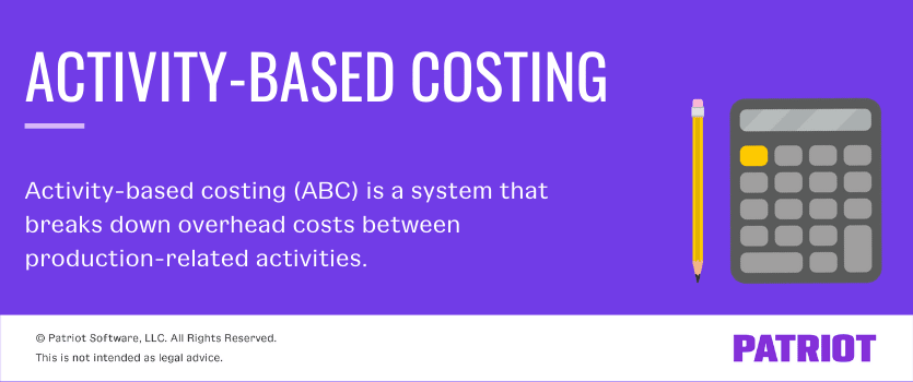 activity-based costing (ABC) is a system that breaks down overhead costs between production-related activities.