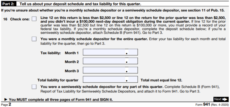 How To Fill Out Form 941 2020 Q3 Q4 Version Instructions