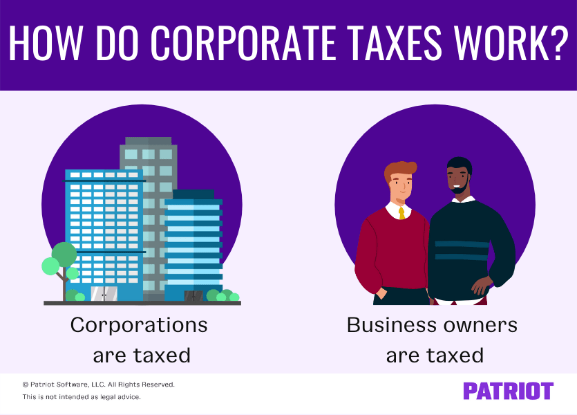 How do corporate taxes work? Corporations are taxed and business owners are taxed