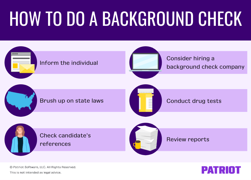 6 steps on how to do a background check