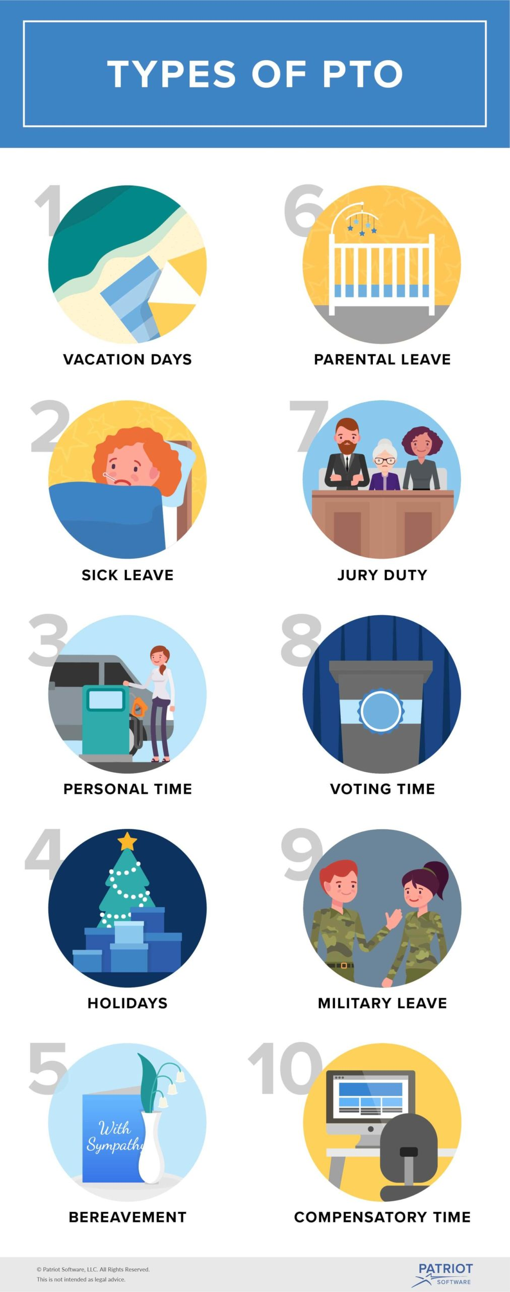Types of paid time off