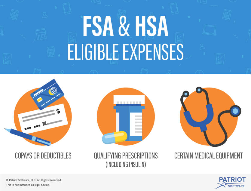 hsa vs. fsa eligible expenses