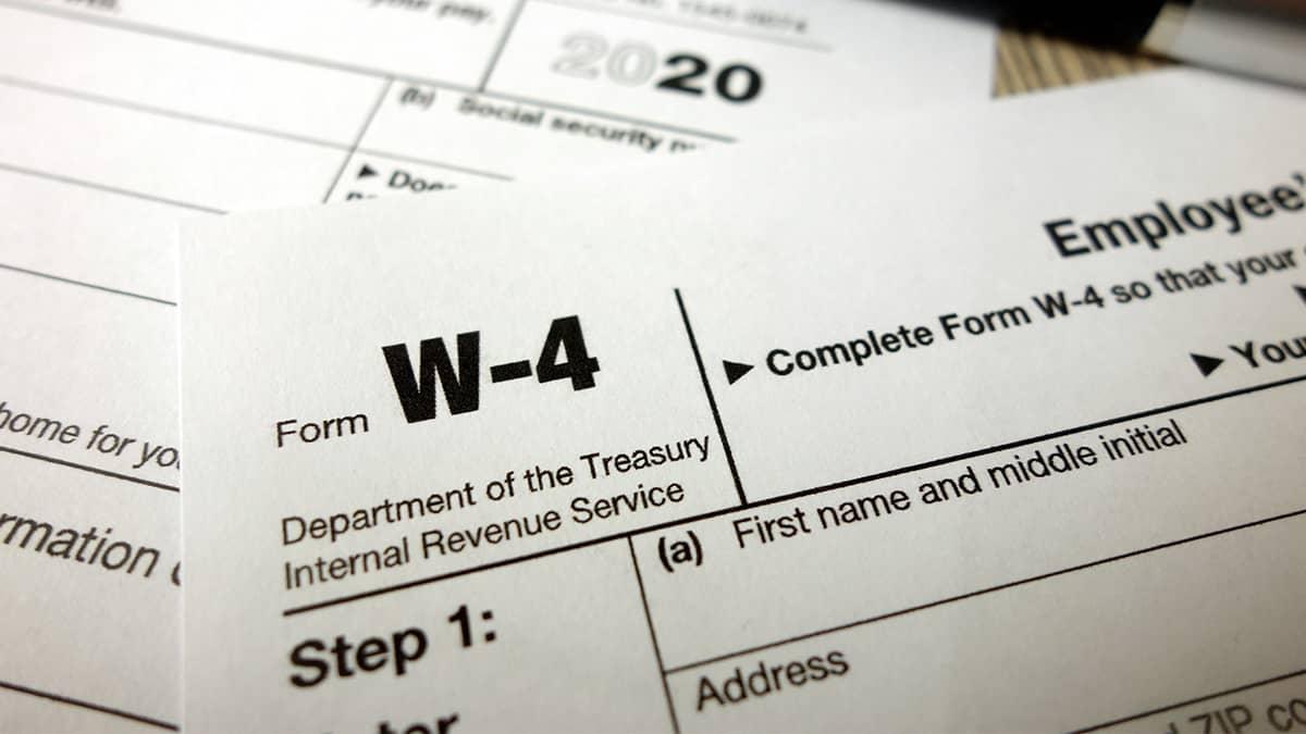 Form W-4 paper