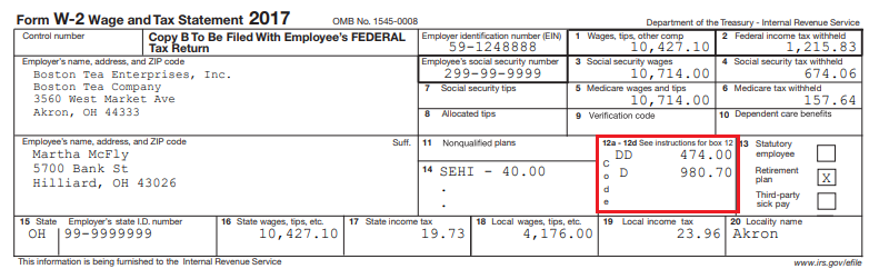 W-2 Box and Label Guidance for Deductions