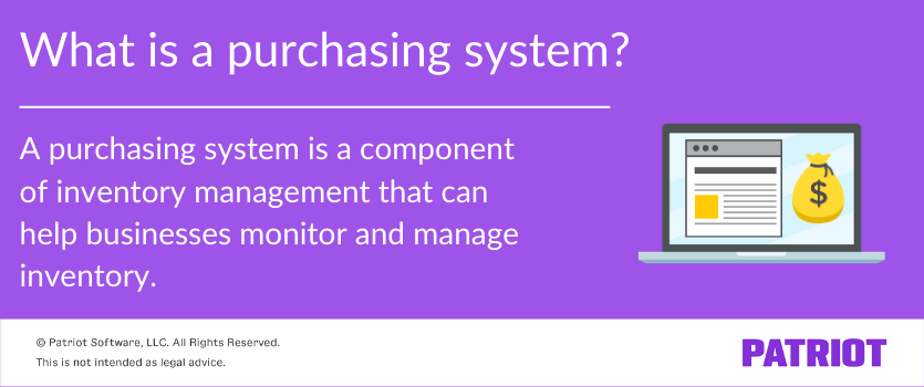 definition of a purchasing system