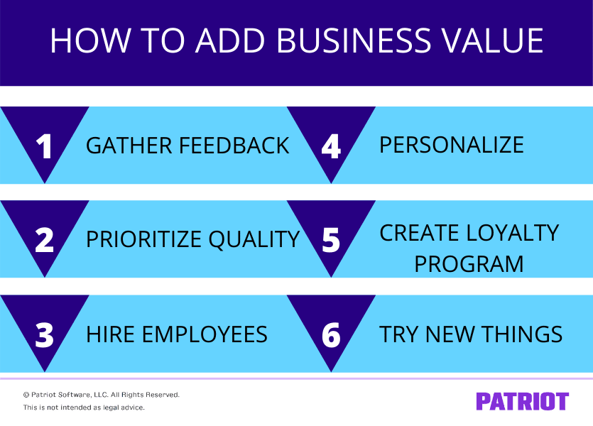 6 adding business value tips