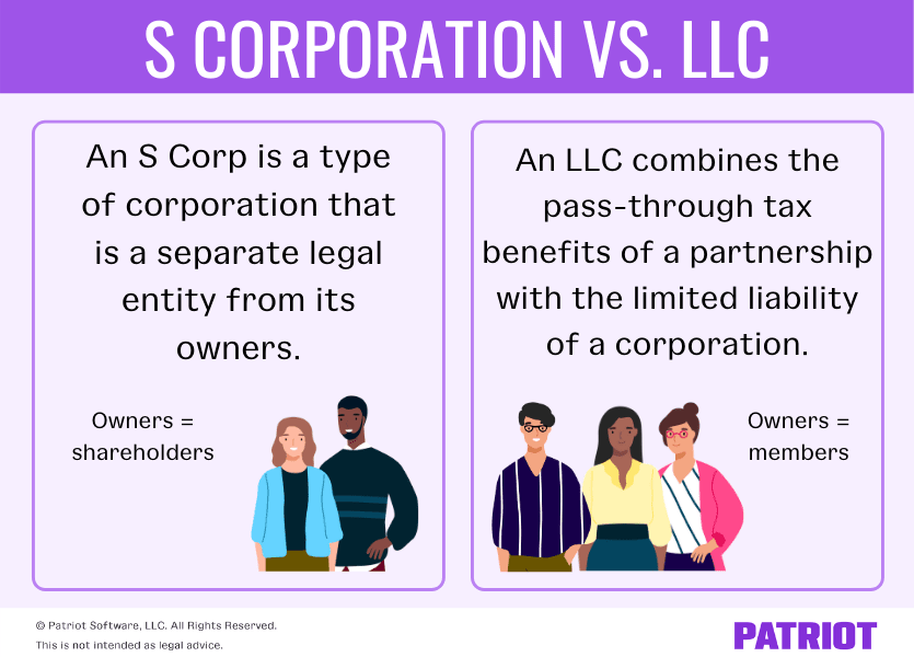 difference between an s corp and an llc