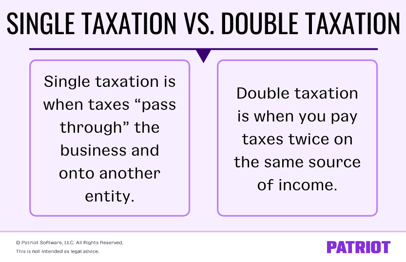 difference between single taxation and double taxation for business taxes