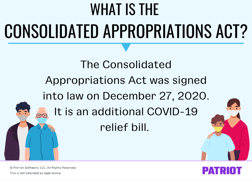 explanation of what the Consolidated Appropriations Act is