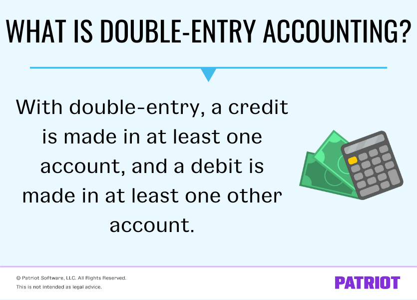 What is double entry accounting? With double-entry, a credit is made in at least one account, and a debit is made in at least one other account.