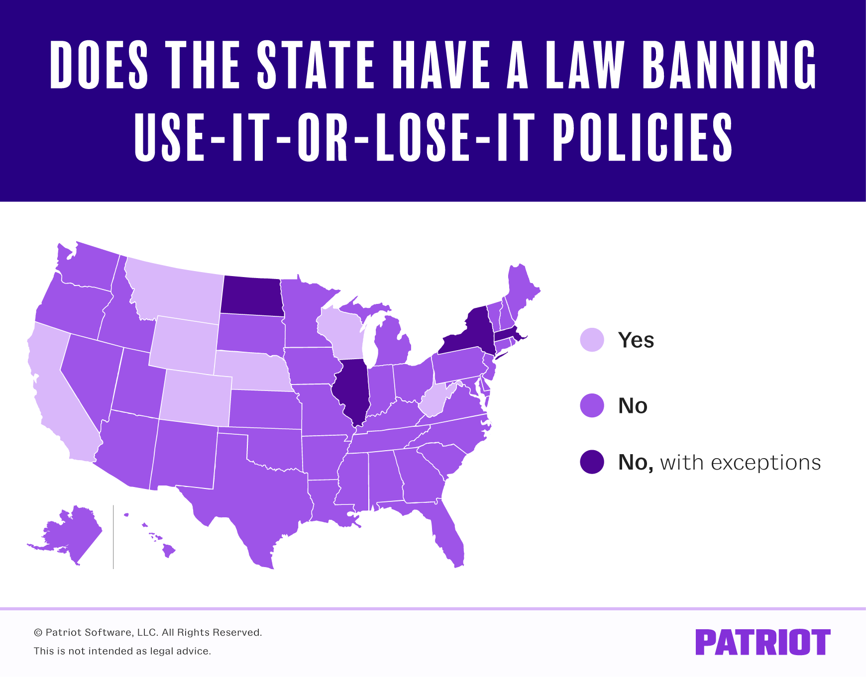states that have a law banning use-it-or-lose-it policies map